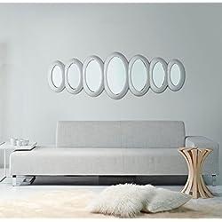 Casa Padrino lujoso espejo de diseño blanco brillante 195 x H. 67 cm - Colección Hotel