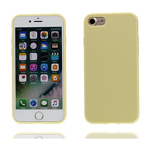 iPhone 7 Custodia, copertura per iPhone 7 [TPU Silicone Transparent] Sofi Durable Custodia Ultra sottile antigraffio Case Cover per iPhone 7 (4.7inch) - giallo albicocca