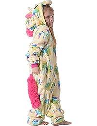 Best Home & Baby - Pijama de unicornio con capucha, pijama de forro polar para niños pequeños y adultos pequeños