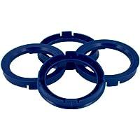 Set mozzo ruota TPI–Anelli 76.1- > 56.6mm Reflex, Blu - Quattro Hub Centric Anelli