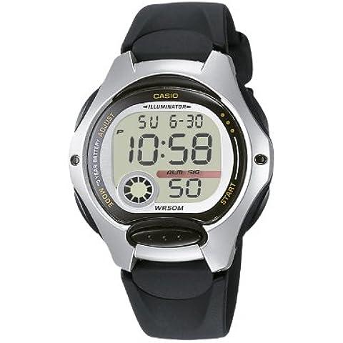 CASIO Collection LW-200-1AVEF - Reloj de mujer de cuarzo, correa de resina color negro (con cronómetro, alarma,
