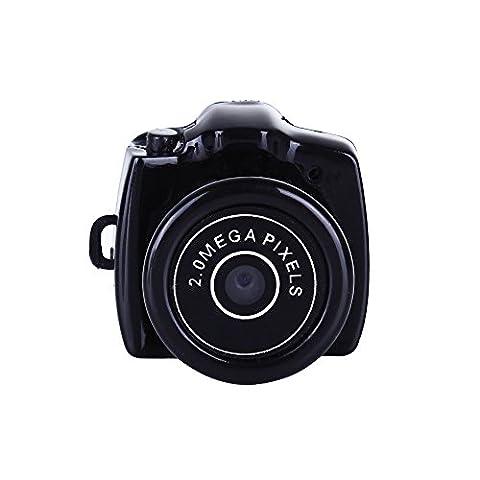 Espion Appareil Mini caméra espion DVR Enregistreur Vidéo 720p, jusqu'à 32Go (Noir, Fun Share)