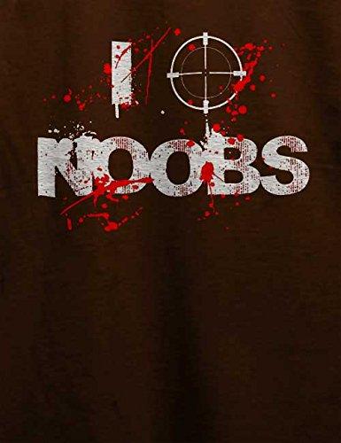 I Shoot Noobs T-Shirt Braun
