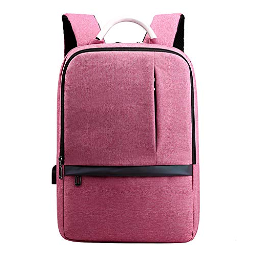 CryLee USB-Laderucksack Unisex-Computer-Tasche Große Kapazität Mehrfachtasche Wasserdichter Nylon-Rucksack Farbverlauf Sicherheits-Reisetasche