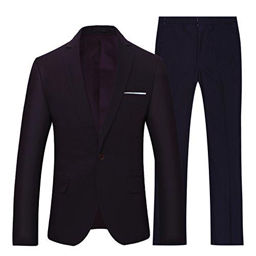 Abiti uomo vestiti scuri/ blu per gli uomini a 2 pezzi si adatta allo stile classico