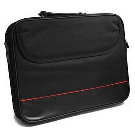 Spire 15 6  Laptop Carry Case  Black with front Storage Pocket