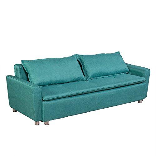 federkern schlafcouch MACOShopde by MACO Möbel Schlafsofa 3-Sitzer Schlafcouch Bett mit Bettkasten (grün)