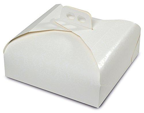 Guardini Monouso 1 Scatola porta torte 33x33 carta da forno Colore bianco