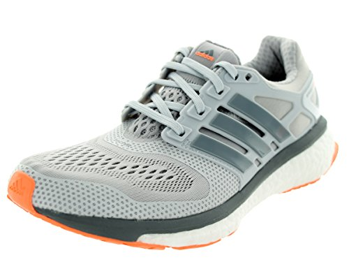 Adidas  Energy Boost 2, Chaussures de running femme Solid Grey/Grey/Flash Orange