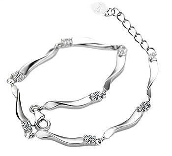 Cosanter Armband Armreif Armkette Kette Silber Charm Verstellbar Elegant Damen Armschmuck Damenkette 0