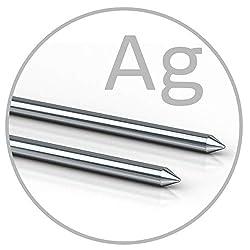 Colloimed Silber-Elektroden 1 Paar 3mm x 82mm für Medionic Ionic-Pulser (Silber 3x82)