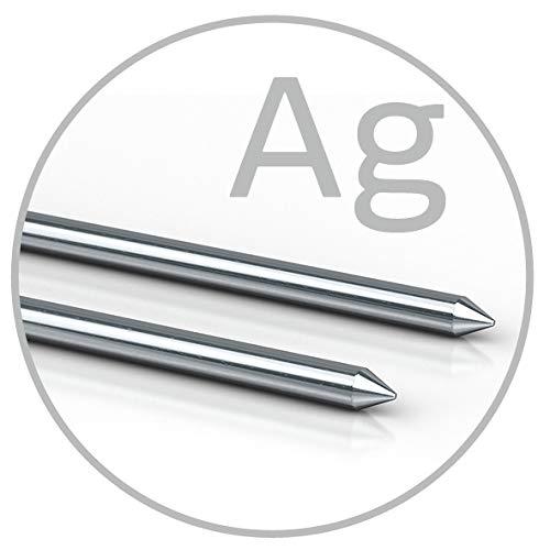 Colloimed Silber-Elektroden 1 Paar für Colloidmaster CM1000 2mm x 80mm (Ag 2x80)
