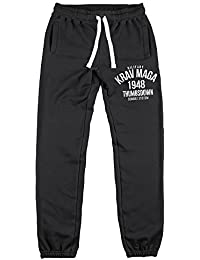 Jogging Pants Cuffed Hem. Pantalon de jogging. Military Krav Maga Combat System. Thumbsdown Joggers. Gym. Training. Sportswear. Running. Casual.