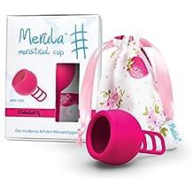Merula Cup strawberry (pink) -One size Menstruationstasse aus medizinischem Silikon