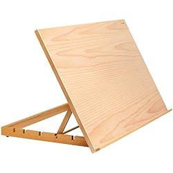 Reeves 4870165 - Estación de trabajo para arte y manualidades, tamaño A2, de madera de olmo