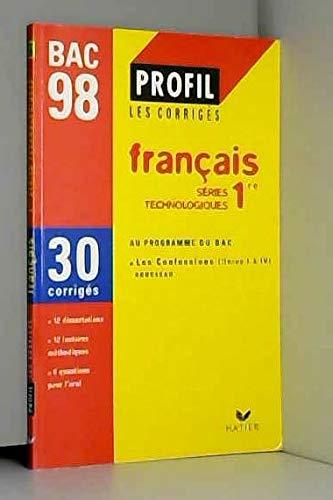 FRANCAIS 1ERE STT. Corrigés