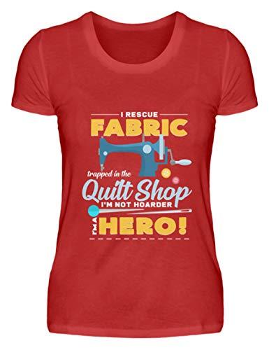 generisch ich Bin EIN Held Nähmaschine Nähen Superheld Geschenkidee - Damen Premiumshirt -3XL-Rot