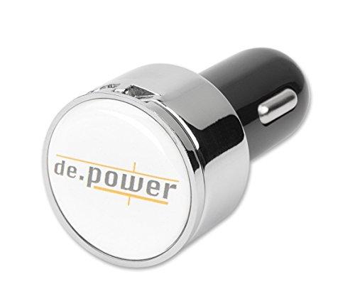 de.power - Adattatore USB di ricarica, con spina da auto, 12V, incl. 2 porte USB, modello: CHG-MOB1