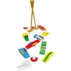 Small Foot 1504 Jeu de minigolf en bois massif, avec deux bâtons de golf, balles, obstacles et bien plus encore, à partir de 5 ans