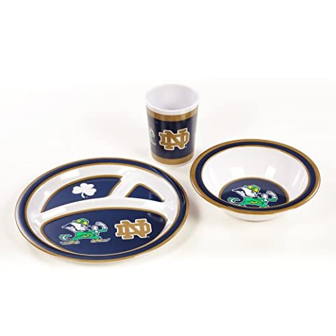 NCAA Notre Dame Fighting Irish Kid's Dish Set (3-Piece) (Irish Ncaa)