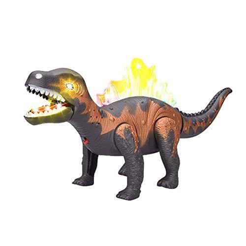 Realistische Roboter Kostüm - Cooljun LED leuchten und gehen realistische Dinosaurier mit Sound und realistischen Sounds, Dinosaurier Spielzeug für Kinder, 15,6 Zoll (Grau)
