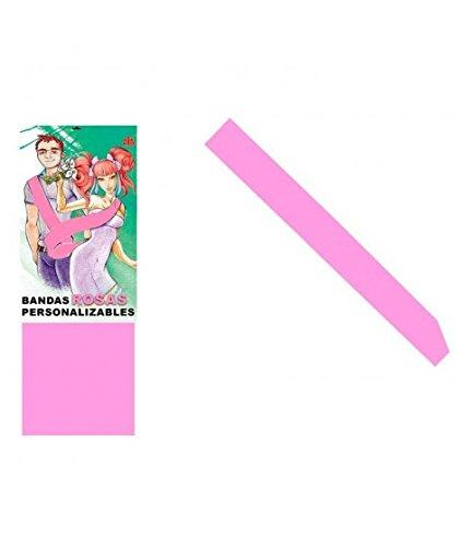 Banda Rosa Personalizable para Fiestas