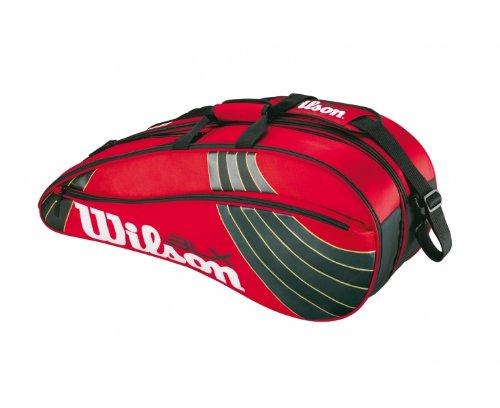 WILSON Thermo-Racketbag BLX Team 3er Racket X, rot/schwarz/Gold, 76x34x33 cm -