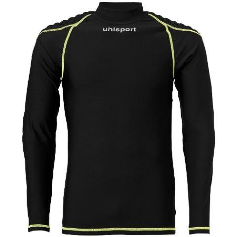 uhlsport Torwarttech Baselayer La Torwarttech - Camiseta de portero de fútbol para hombre, color negro, talla M