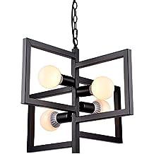 loft industriale vento geometrico lampadario e27× 451cm × 43cm LED regolabili in altezza villaggio Retro personalità ristorante bar ferro lampada