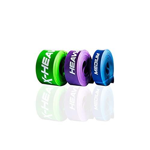 ActiveVikings® Pull-Up Fitnessbänder | Perfekt für Muskelaufbau und Crossfit Freeletics Calisthenics | Fitnessband Klimmzugbänder Widerstandsbänder (8-3er Pro Package (Blau Lila Grün)) -