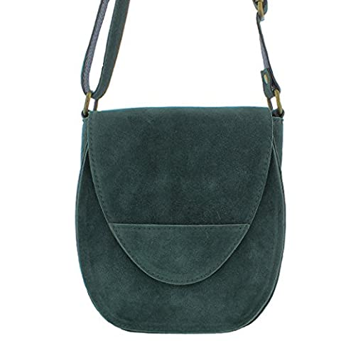 Suede Small Satchel Crossbody Handbag in a choice of colours