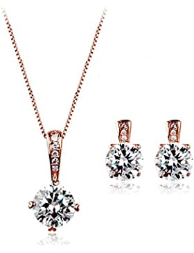 La vivacità 18ct Rose Gold überzogenen Reinheit Set mit Swarovski-Kristallen hoher Qualität Geschenk für Frauen