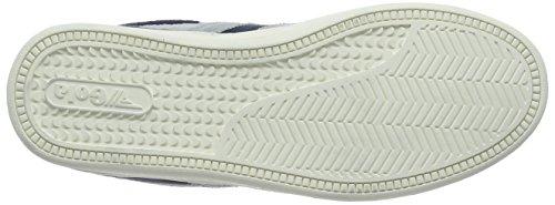 Gola - Equipe Suede, Scarpe da ginnastica Uomo Blu (Navy/Light Grey)