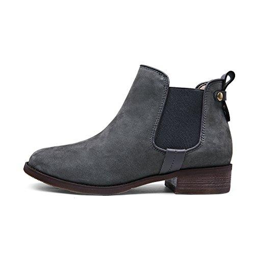 Suede boot d'Angleterre/Ladies au printemps et en automne dans les bottes/ ladies plates bottines A