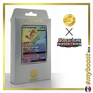 Katagami-GX (Kartana-GX) 117/111 Arcoíris Secreta - #myboost X Soleil & Lune 4 Invasion Carmin - Box de 10 Cartas Pokémon Francés