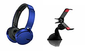 Extra Bass XB650 Headphones & Car Holder for HTC 10(XB 650 Headphones,With MIC,Extra Bass,Headset,Sports Headset,Wired Headset & Car Holder,Mobile Holder)