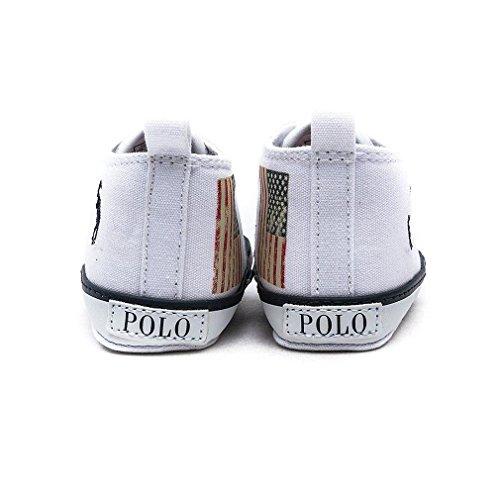 Polo Ralph Lauren  Wrentham Hi layette, Chaussures souples pour bébé (fille) Blanc
