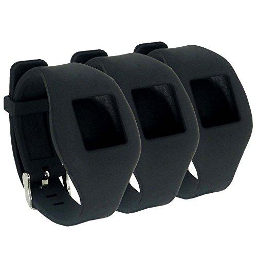 HOPCENTURY nuevo estilo accesorio recambio Fitbit ZIP Wrist Band correa ajustable Muñequera con hebilla de pulsera Sport para ajuste Bit con cremallera Smart Fitness Reloj Tracker–Negro 3 Pack Black