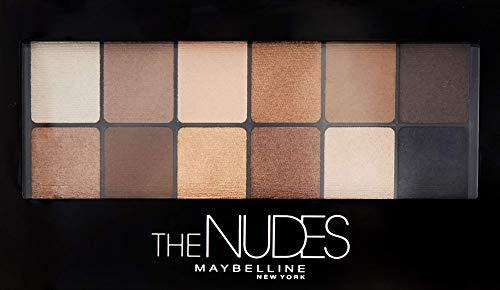 Mineral-make-up-kits (Maybelline The Nudes Lidschatten Palette, 12 Farben in einer Lidschattenpalette, sanfte und sinnliche Taupe-, Sand- und Bronzetöne, für den angesagten Nude-Look)