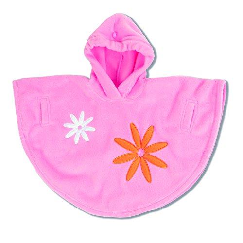 Preisvergleich Produktbild Baby Boum LHBOS381PPLMF49G Fleece-Poncho mit Kapuze, Design Ski, für den Außenbereich und Autositze, 0-9 Monate, rosa