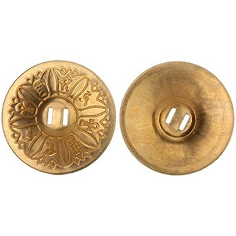 LEORX Pareja de danza del vientre Zills dedo cobre platillos (oro)