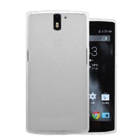 Rydges® Designer High Quality Crystal PTU - Case für OnePlus one Schutz Hülle Silikon Cover Tasche (kristalltransparent-matt-clear)