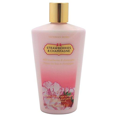 Lotion Strawberry (Victoria's Secret Strawberries & Champagne 250 ml Körperlotion für Sie, 1er Pack (1 x 250 ml))