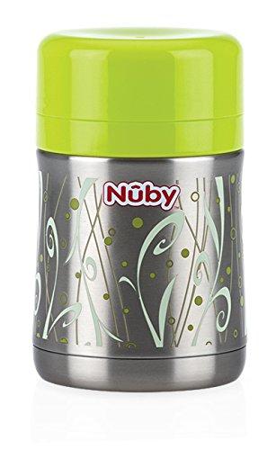 Nuby ID5475 Edelstahl Essensbehälter,Grün, 450ml