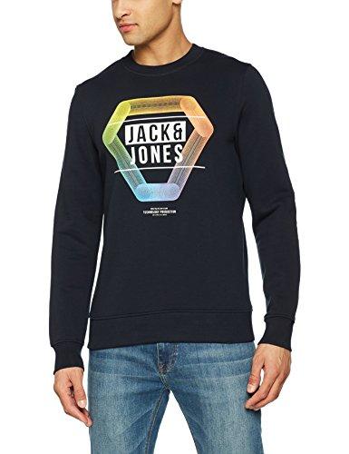 JACK & JONES Herren Sweatshirt Jcopaul Sweat Mix Pack, Blau (Sky Captain Fit:Reg), Large
