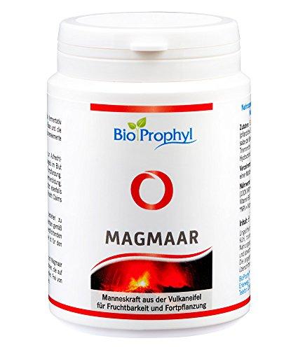 BioProphyl® Magmaar - 750 mg L-Arginin Base mit Zink und Selen und Vitaminen Niacin und B12 - Manneskraft für Fruchtbarkeit und Fortpflanzung - 120 vegetarische Kapseln -