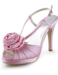 Chaussure de mariée satin rose