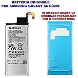 Batteria Pila Interna Originale Per Samsung Galaxy S6 G920 G920F SM EB-BG920ABE EB-BG920ABA con Adesivo Biadesivo Pretagliato Copribatteria