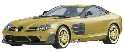 Schuco 403331028 Mercedes-Benz SLR McLaren - Coche a Escala 1:24 en Color Dorado