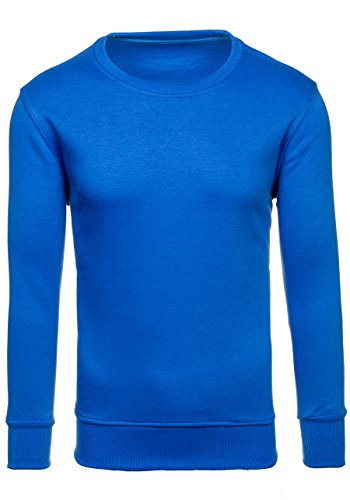BOLF Herrenpullover Basic Sweatshirt J.STYLE 2001 Blau M [1A1] |